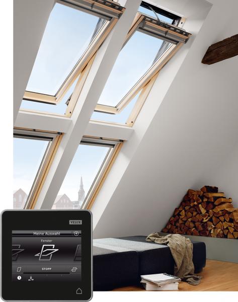 VELUX Dachfenster GGL 337021 Holz INTEGRA® Elektrofenster klar lackiert THERMO Titanzink
