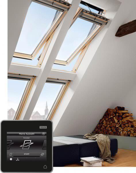 VELUX Dachfenster GGL 237321 Holz INTEGRA® Elektrofenster weiß lackiert THERMO-STAR Titanzink