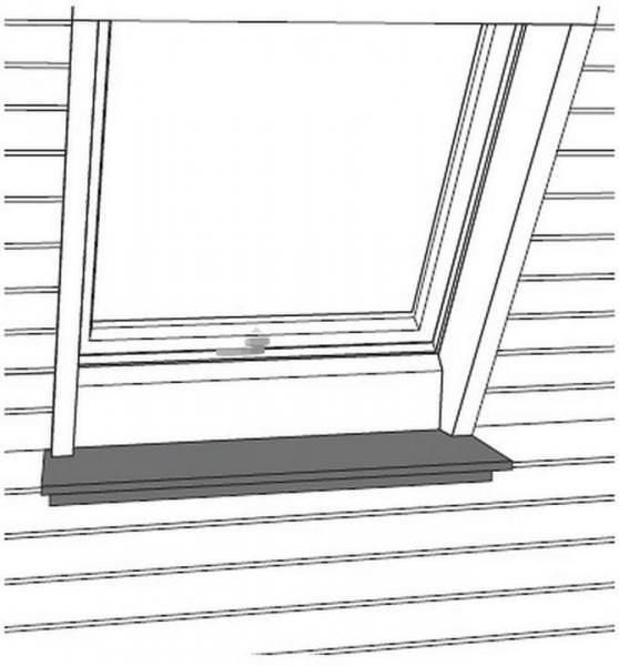 Roto Designo Rx ZIN FBA Fensterbank weiß
