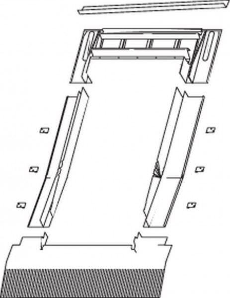 Roto EDR Rx HZI Eindeckrahmen Hohe Pfannen/Ziegel wärmegedämmt Kupfer