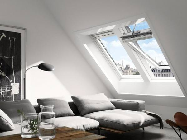 VELUX Solar Dachfenster GGL 207030 Holz weiß lackiert INTEGRA THERMO Aluminium