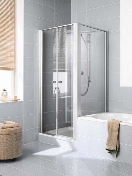 Kermi IBIZA 2000 Seitenwand verkürzt beweglich neben Badewanne I2 TVR/L