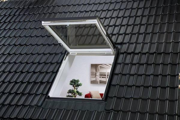 VELUX Dachfenster GTU 0366 Kunststoff Wohn- und Ausstiegsfenster ENERGIE PLUS Titanzink