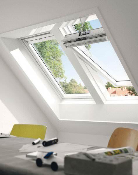 VELUX Dachfenster GGU 037030 Kunststoff INTEGRA® Solarfenster THERMO Titanzink