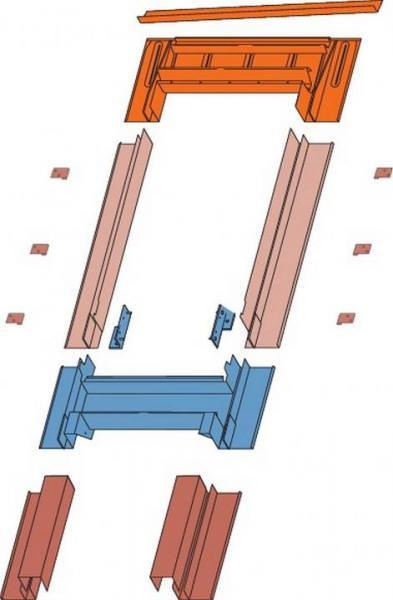 Roto Eindeckrahmen EFA Designo Rx Fassadenanschluss Ziegel durchgehende Seitenteile 3x1 Aluminium wä