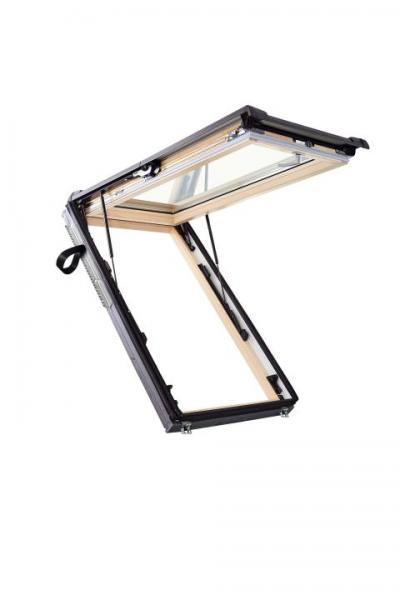 Roto Dachfenster WSA R88C Holz Designo R8 Wohnsicherheitsausstieg 2-fach Comfort Kupfer