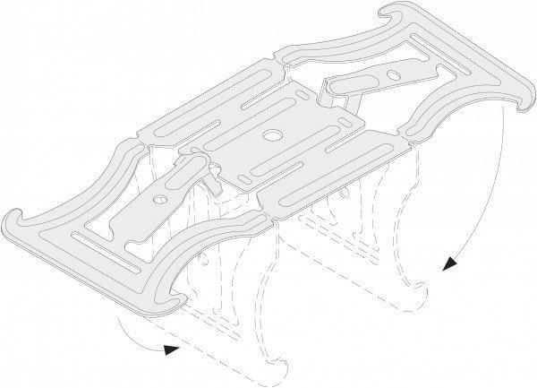 Kreuzverbinder f. UA-Profil 50x40 mm in Verbindung m. CD-Profil 60x27 mm