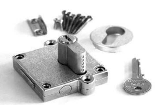 Roto Absperrschloss mit Zylinder Stahl