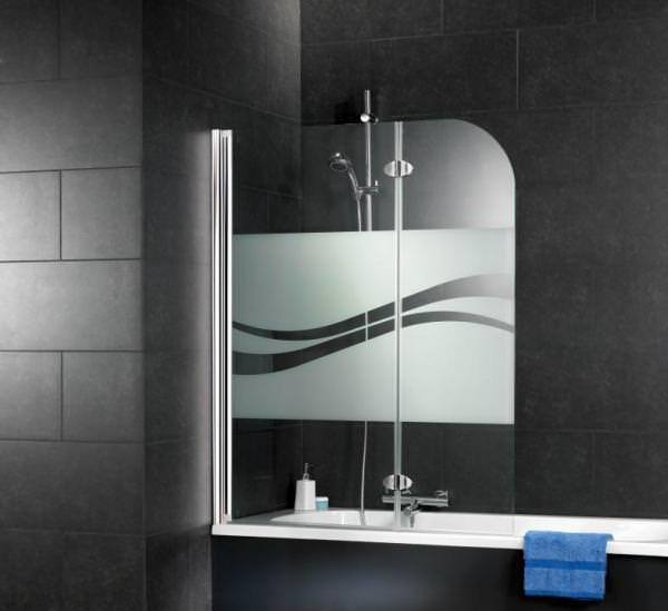 Schulte ExpressPlus Komfort Badewannenfaltwand 2-teilig mit Dekor Liane