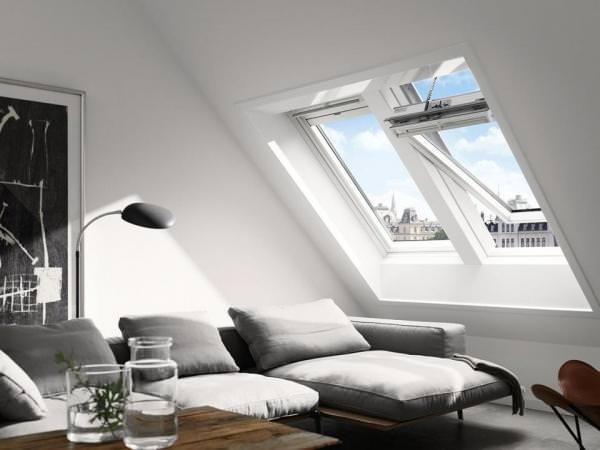 VELUX Solar Dachfenster GGL 216630 Holz weiß lackiert INTEGRA ENERGIE PLUS Kupfer