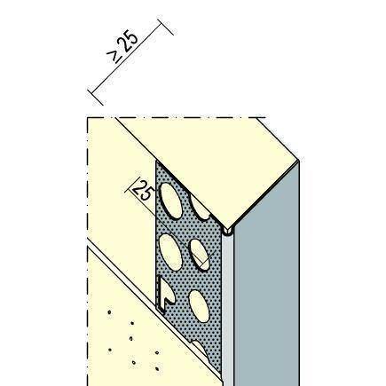 Prima Alu-Eckschutzschiene Nr. 9002 L 250 cm 22,5/25 mm