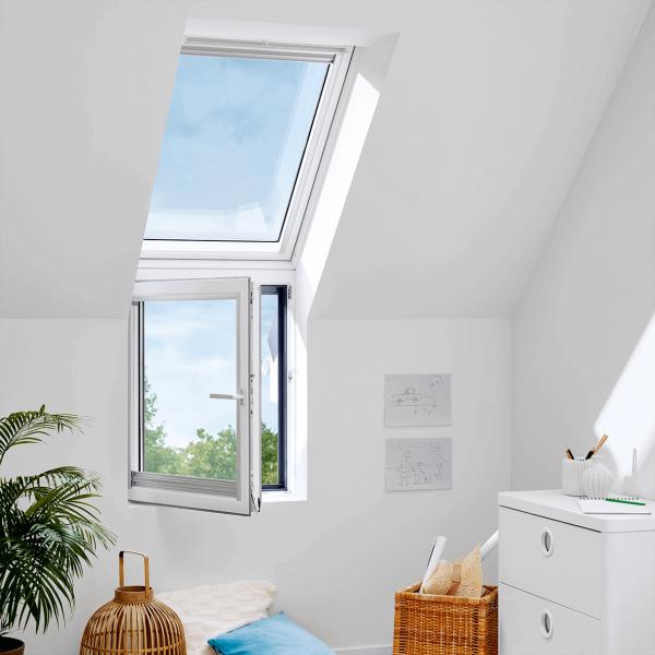 "VELUX Dachfenster VFB 2066 Holz Zusatzelement rechts ""FASSADE"" Energie Plus Aluminium"