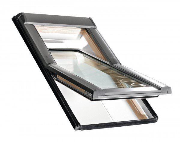 Roto Dachfenster WDF R69G Holz Designo R6 Schwingfenster blueTec Aluminium