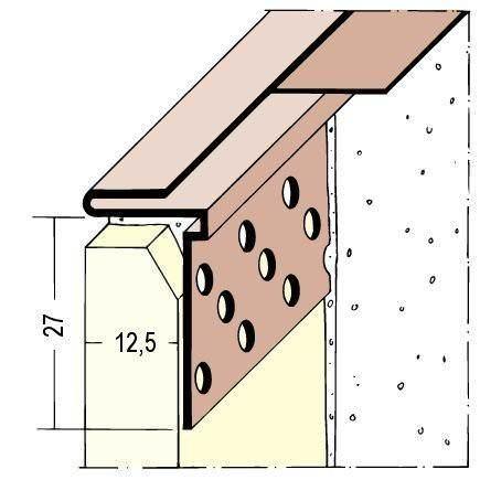 Protektor Abschlußprofil PVC Nr. 3766 L 300 cm, weiss