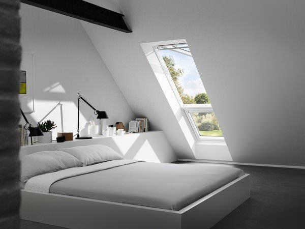 VELUX Dachfenster GPL ST0W1 Holz Systemlösung Lichtband klar lackiert THERMO Aluminium