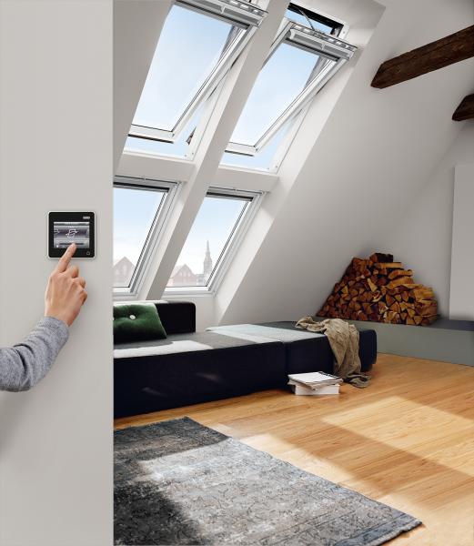 VELUX Dachfenster GGL 336821 Holz INTEGRA® Elektrofenster klar lackiert ENERGIE Titanzink