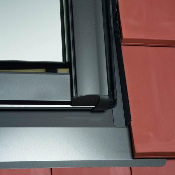 Roto ESR R8 Designo Austausch-Eindeckrahmen Schiefer mit durchgehenden Seitenteil Aluminium