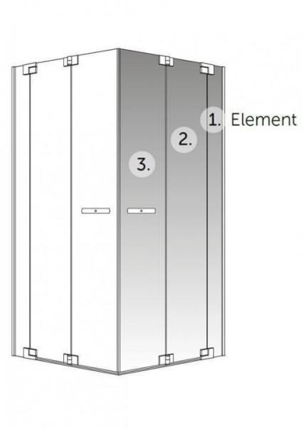 PALME APREJO PRO Falt-Eckeinstiegshälfte 2-teilig mit Fixteil