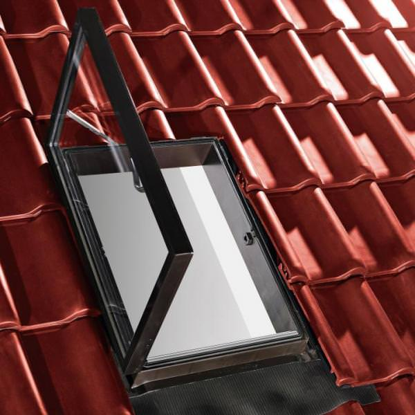 Roto Dachfenster WDA R25 Kunststoff Dachausstieg rechts 55/80 AlpineStart Aluminium