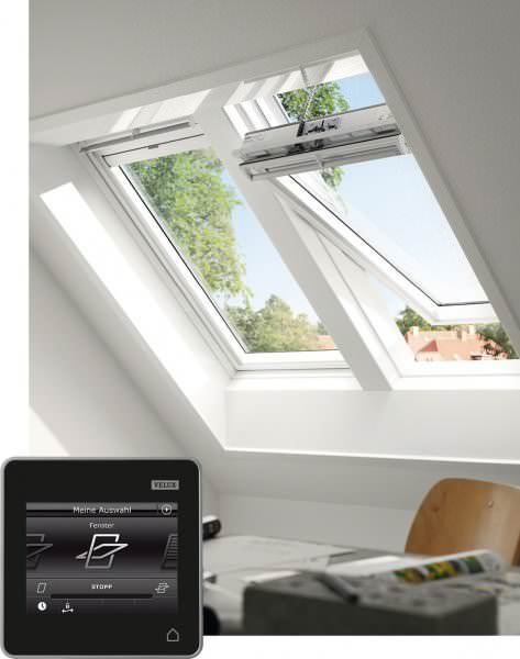 VELUX Dachfenster GGL 237330 Holz INTEGRA® Solarfenster weiß lackiert THERMO-STAR Titanzink