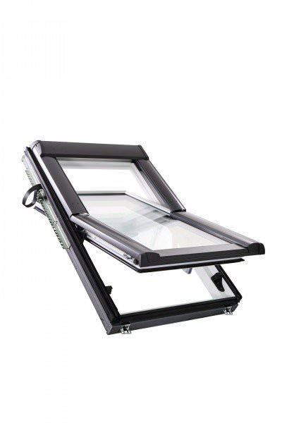 Roto Dachfenster WDF R68C Kunststoff Designo R6 Schwingfenster 2-fach Comfort Aluminium