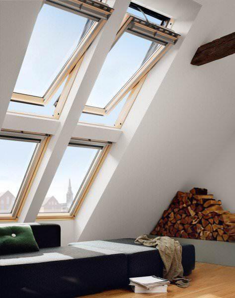 VELUX Dachfenster GGL 316221 Holz INTEGRA® Elektrofenster klar lackiert ENERGIE SCHALLSCHUTZ Kupfer