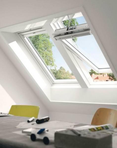 VELUX Solar Dachfenster GGU 036630 Kunststoff INTEGRA ENERGIE PLUS Titanzink