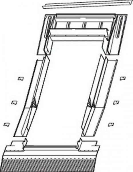 Roto EDW V20 Austausch-Eindeckrahmen für Ziegel, hohe Ziegel Aluminium mit Wärmedämmung