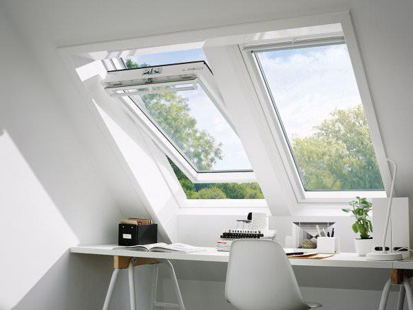 VELUX Dachfenster GGU 0370 Kunststoff Schwingfenster THERMO Titanzink