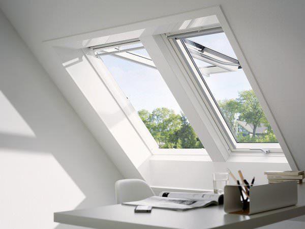 VELUX Dachfenster GPU 0168 Kunststoff Klapp-Schwingfenster ENERGIE Kupfer