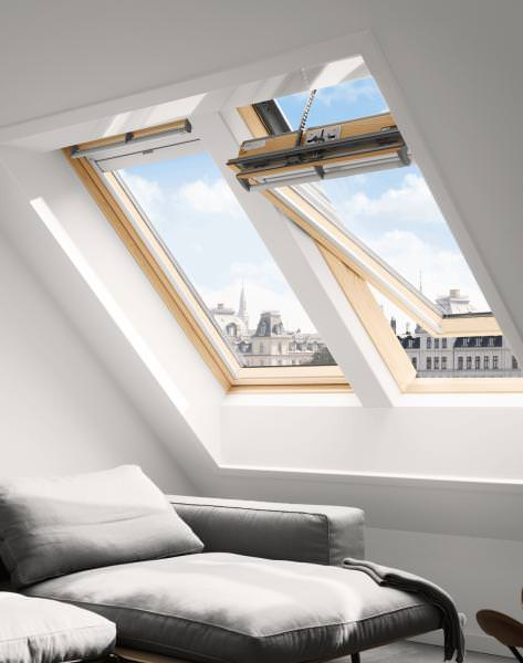 VELUX Dachfenster GGL 306630 Holz INTEGRA® Solarfenster klar lackiert ENERGIE PLUS Aluminium