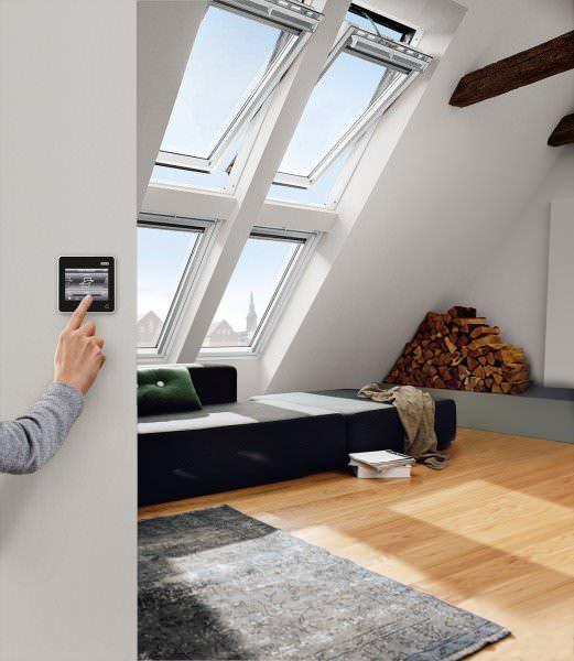 VELUX Dachfenster GGL 206221 Holz INTEGRA® Elektrofenster weiß lackiert ENERGIE SCHALLSCHUTZ Alumini