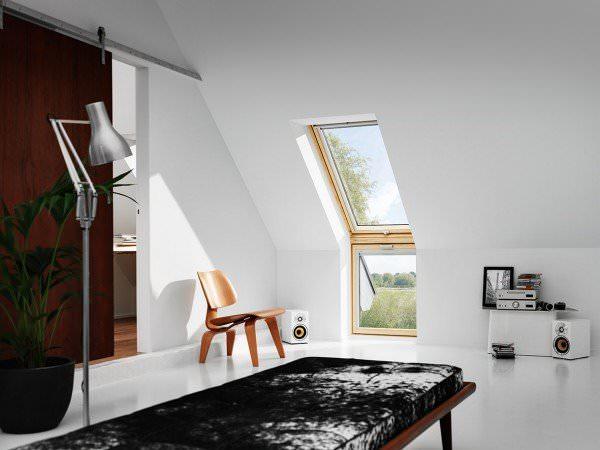 """VELUX Dachfenster VFE 3370 Holz Zusatzelement """"Wand"""" klar lackiert THERMO Titanzink"""
