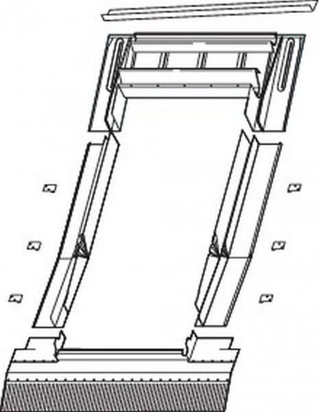 Roto EDW Eindeckrahmen Ziegel, hohe Ziegel, Wellplatten Titanzink