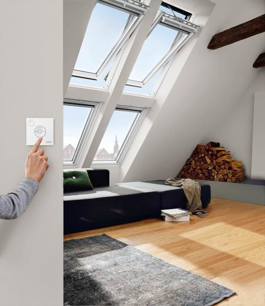 VELUX Dachfenster GGL 236021 Holz INTEGRA® Elektrofenster weiß lackiert THERMO PLUS Titanzink