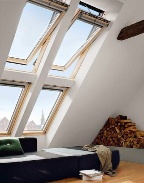 VELUX Dachfenster GGL 336621 Holz INTEGRA Elektrofenster klar lackiert ENERGIE PLUS Titanzink