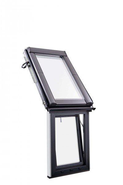 Roto Dachfenster WFA R19B Kunststoff Designo R1 Wohn-Fassadenanschlussfenster 3-fach Premium Alumini
