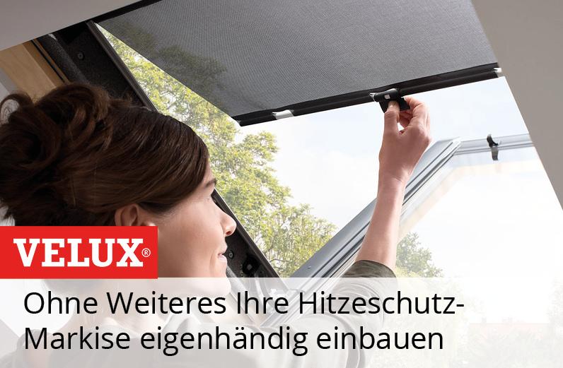 VELUX Hitzeschutz-Markise Haltekrallen MHL Einbauvideo