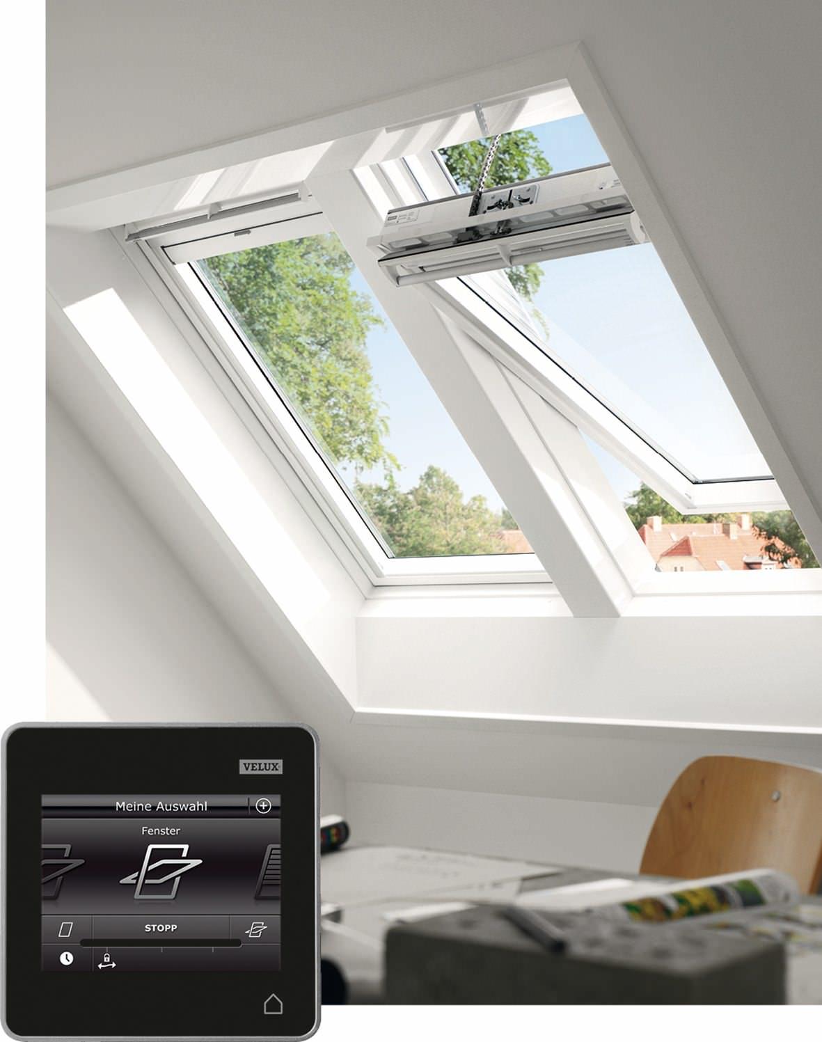 velux dachfenster ggu sd0j230 kunststoff integra solarfenster thermo plus aluminium. Black Bedroom Furniture Sets. Home Design Ideas