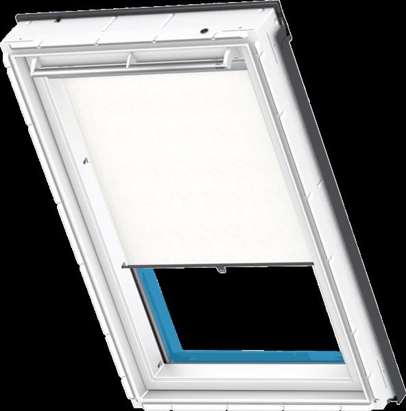 VELUX RG Sichtschutz-Rollo manuell mit Haltekrallen weiß