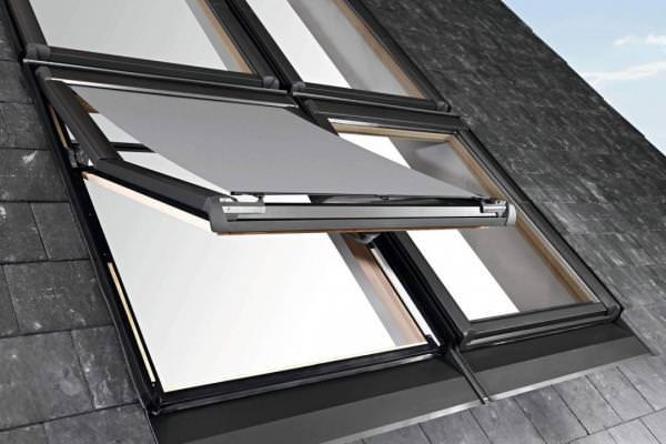 Roto ZAR Hitzeschutz-Markise Screen Designo R7 Standard-Renovierung Manuell Aluminium