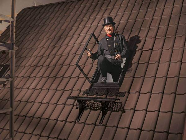 VELUX Dachfenster GVT 7759Z Kunststoff Dachausstieg ziegelrot für Kalträume wärmegedämmt