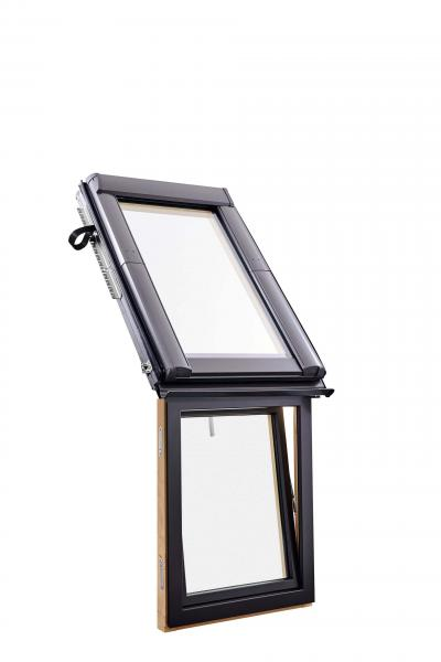 Roto Designo R1 Holz Wohn-Fassadenanschlussfenster