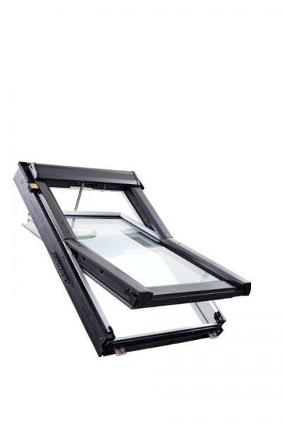 Roto Dachfenster Q4 Tronic K3C Kunststoff Schwingfenster Funk 3-fach Comfort Kupfer