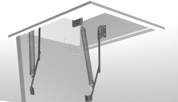 Roto Deckelfederung für bauseitigen Lukendeckel