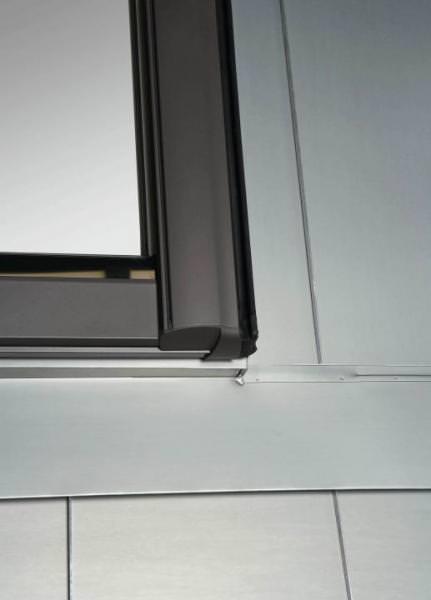 Roto Eindeckrahmen EDR Metall-/Stehfalz 1x1 Designo Rx Titan verzinkt wärmegedämmt
