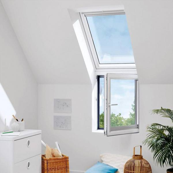 "VELUX Dachfenster VFA 2068 Holz Zusatzelement links ""FASSADE"" Energie Aluminium"
