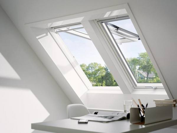 VELUX Dachfenster GPU 0070 Kunststoff Klapp-Schwingfenster THERMO Aluminium