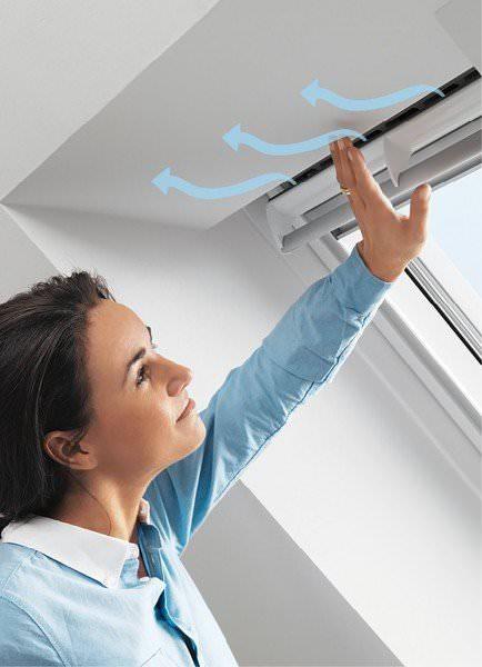 VELUX ZZZ 214K PU1 Balanced Ventilation Kupfer für VELUX Klapp-Schwingfenster