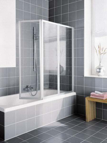 Kermi VARIO 2000 Faltwand 3-flügelig für Badewanne V2 FW3